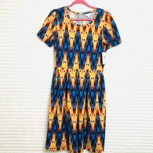 NWT LuLaRoe Amelia Womens XL Red Orange Blue Black